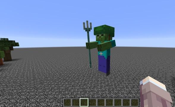 Funcionamiento del hechizo empalamiento en Minecraft