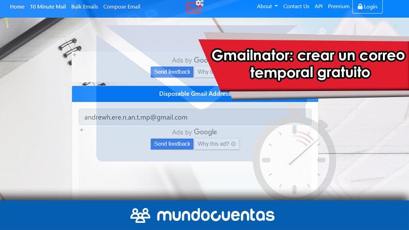 Gmailnator crear un correo temporal gratuito