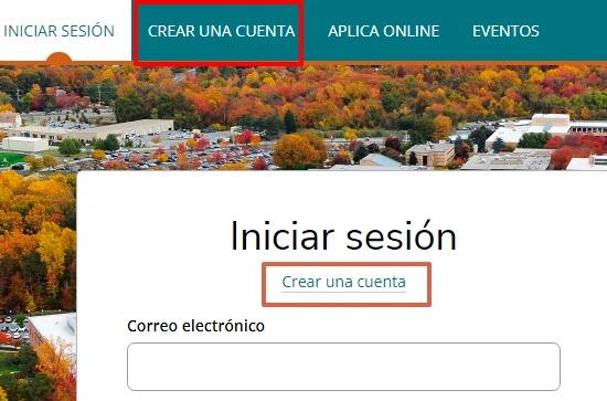 Otro método para registrar una cuenta EDU online gratis. Paso 1